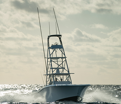 Invincible Boats' 42 foot fishing boat - a statement boat for the serious fisherman.