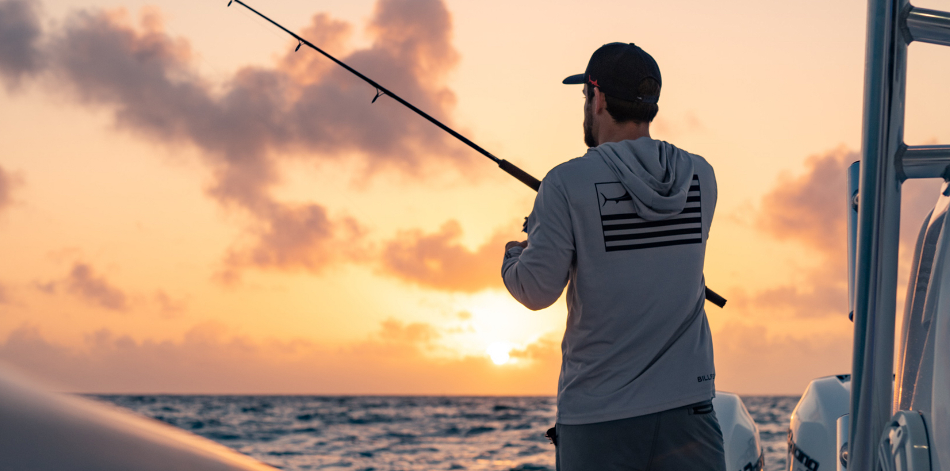 Man fishing on the premier Invincible center console.